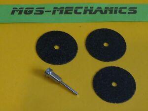 Spanndorn mit 3.175 mm Schaft + 3 Trennscheiben mit großem 50 mm Durchmesser