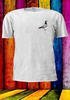 Pigeon Drawing Animal Pocket Bird Men Women Unisex T-shirt 979