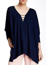 Trina Turk Coddington Merino Wool Sweater Indigo P-S NWT $328