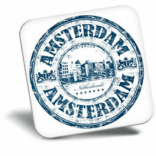 Awesome Fridge Magnet - Amsterdam Netherlands Travel Stamp Cool Gift #5910