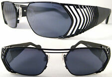 RARE & VINTAGE HOLLYWOOD STYLE UNISEX SUNGLASSES METAL / BLACK - LIMITED EDITION