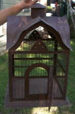 Gothic Antique Vintage Metal Bird Cage Victorian House Shaped VERY RARE, Unique!