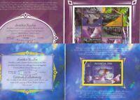 INDONESIEN Folder Edelsteine 1998 Block+Kleinbogen m.Überdruck nur 35 Tsd **/MNH