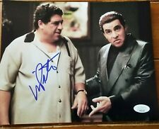 Vinny Pastore Big Pussy signed 8x10 photo with Silvio Dante The Sopranos Jsa Coa