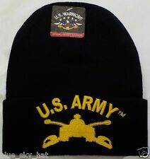 U.S. ARMY ARMOR BRANCH SCHOOL COMBAT CAVALRY FORCES BEANIE WATCH CAP KNIT HAT OS