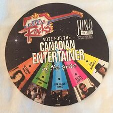 Vtg Molson Canadian Rocks Beer Coaster 1991 Juno Awards Tragically Hip Ballot