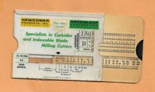 NEWCOMER PRODUCTS INC HORSEPOWER CALCULATOR   VINTAGE ADVERTISING