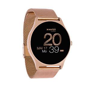 Smartwatch Uhr Damen Fitnesstracker für Android iOS Joli X-WATCH Rose Gold