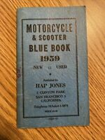 1959 Hap Jones Motorcycle Blue Book on New and Used Values