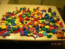 Duplo LEGO Lot  8-9 lbs  blocks vehicles figures  pieces  random sets some tyco