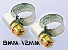 2x 8mm 12mm Stainless Steel Jubilee Type Hose Clips Clamps Pipe Lpg Prima Screw
