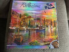 """MasterPieces Reflections 750 Pc Puzzle New """"Sailor's Glow"""" Vivid Sunrise Colors"""