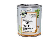 naftie Bio Hof Pute+ Hundefutter Nassfutter Menü, 6x800g Sparpaket