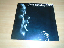 JAZZ CATALOG (KATALOG) 1962 - GERMAN - ARMSTRONG - FITZGERALD - SWING