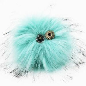 1pc 5inch Large Snap-on Faux Raccoon Fur Pom Pom Ball for Hat Clothes Detachable