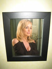 Sharon Stone Gorgeous Sexy Signed Photograph (8x10) Framed