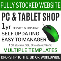Dropship PC Gadgets UK, World | Fully Stocked eCommerce Store Website 1y service