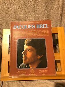 Les plus grandes chansons Jacques Brel partition chant piano éditions Carisch