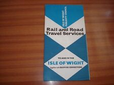 VINTAGE RAIL AND ROAD TRAVEL SERVICES LEAFLET ISLE OF WIGHT