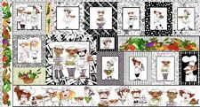 """What's Cookin - Whimsical Chefs - Cotton Quilting Fabric Panel - 43"""" x 23.5"""""""