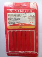 AIGUILLES SINGER TAILLE  80 POUR MACHINE A COUDRE
