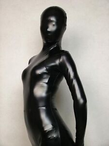 Metallic Lycra Spandex Bodysuit Zentai Suit Adult Size Catsuit Unisex Costume