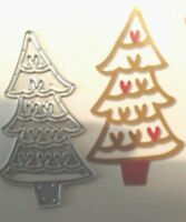 Sizzix Die Cutter CHRISTMAS TREE HEARTS Thinlits fits Big Shot Cuttlebug