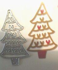 Sizzix Die Cutter CHRISTMAS TREE HEARTS Thinlits fits Big Shot Cuttlebug
