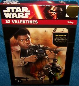 Valentines Day Cards ( Box of 32) Star Wars The Force Awakens