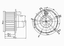 HVAC Blower Motor Front TYC 700080