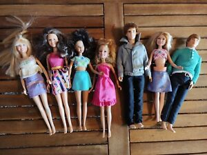 Hannah Montana Justin Bieber High School Musical Olsen Lot Of 7 Dolls