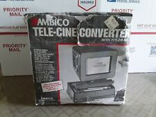 Ambico Tele-Cine Converter Titler Kit Vgc! 8-9