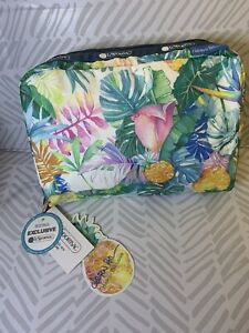LeSportSac Hawaii Exclusive NWT Uluwehi Cosmetic Bag Pouch 7121 Lauren Roth