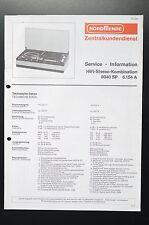 NORDMENDE HIFI-STEREO-KOMBINATION 8040 SP Service-Manual/Info/Schaltplan! o33