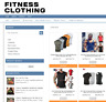 FITNESS CLOTHING UK WEBSITE BUSINESS WITH 1 YEARS HOSTING - FULLY STOCKED