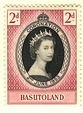 BASUTOLAND 1953 CORONATION BLOCK OF 4 MNH