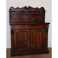 A Quality Victorian Carved Rosewood Chiffonier of Small Cottage Size