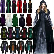 Halloween Witch Cosplay Scary Renaissance Dress Party Women Fancy Dress Costume