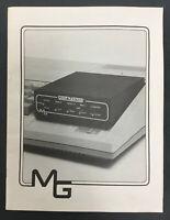 Rare Gram Kracker, Miller Graphics, MG, Manual, Catalog, TI 99/4a Computer
