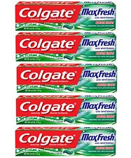 (5) Pack Colgate Max Fresh Toothpaste with Mini Breath Strips, Clean Mint  6 Oz