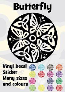 Butterfly Butterflies Vinyl Transfer Sticker Decal Car Wall Laptop Window