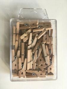 Beutel 50 Stück 11 cm Rundkopf-Wäscheklammern 13mm