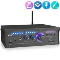 Pyle PCAU46BA Wireless Power Amplifier Home Audio Bluetooth Receiver System