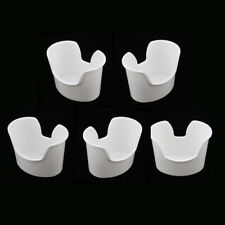 5x Plastic Reusable Ear Wash Ear Clean Basin Wax Removal Container White
