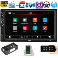 "7"" Car Stereo Bluetooth Radio MP5 Player Double DIN Touch Screen Phone-Link Du"