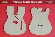 """Telecaster Body Router Template Set wVintage Router Hump CNC TELE 1/2"""" MDF  0.5"""""""