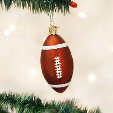 Old World Christmas 44011 Glass Blown Football Ornament
