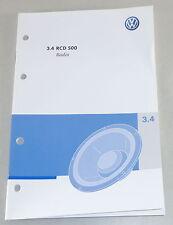 Manual de instrucciones de vw radio RCD 500 instalado en polo Golf Passat UVW. de 10/2006