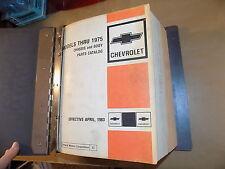 1968 1969 1970 71 72 Chevrolet Parts Catalog SET_Chevelle SS/Camaro/Nova/Malibu