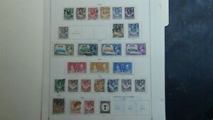 Northern Rhodesia stamp collection on Scott Int'l pages w/ est # 66 or so - '63